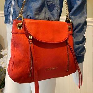 Cynthia Rowley Salmon Leather w/Gold Chain Bag